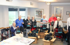 Oak Meadows residents fill bags